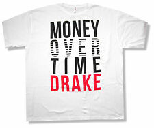"""DRAKE """"MONEY OVER TIME"""" WHITE T-SHIRT NEW OFFICIAL RAPPER ADULT"""
