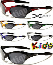 (95)New XLoop Kids Sunglasses-Boys/Girls-Wrap Around/Sports Style-Color Choices!