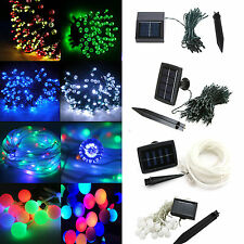 100/200 LED Solar Powered Fairy Lights String Xmas Festive web party Garden Deco