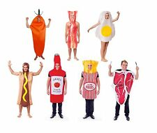 FOOD FUN FANCY DRESS COMPLETE OUTFITS OF ALL TYPES ADULT ONE SIZE