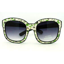 2D Illusion Comic Thick Plastic Horn Rim Sunglasses with Wall Paper Print