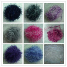 Fun Fur Yarn Eyelash Yarn Fancy Fur with Shiny LUREX Color & Skein Qty at Choice