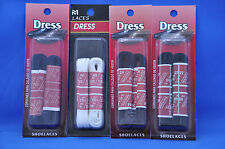 Round Dress Shoe Laces- (2 PAIR)-5 colors- 18-54 inches- NEW