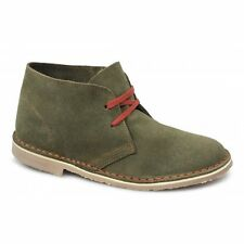 Cotswold ASHLEY Womens Ladies Contrast Lace-Up Suede Leather Desert Boots Khaki