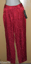 NWT RED ON RED FLORAL PRINT SLACKS BY RUSSELL KEMP NEW YORK