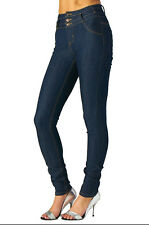 New High Waist Blue Sexy Skinny Jeans Stitch womens denim pants stretch slim FIT