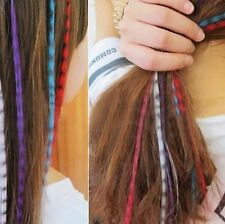 """15 """"Indian feather hairpin fluorescent color hair piece wig piece"""