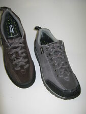 CLARKS LADIES WAVE TRAILGTX CASUAL LACE UP SHOES IN BROWN & GREYNUBUCK