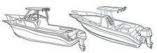 CARVER BOAT COVER FOR CENTER CONSOLE & WALK AROUND CUDDY BOATS WITH HARD TOPS