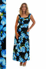 New Ladies Maxi Dress Womens Plus Size Floral Print Tie Back Long Party