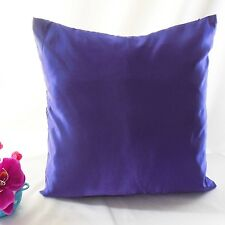 Stiff Deep Delphinlum Faux Dupioni Silk Taffeta Cushion Cover Case #stfcc-77