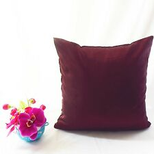 Stiff Wine Faux Dupioni Silk Taffeta Cushion Cover Case Custom Made#stfcc-60