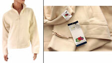 Fruit of The Loom Cotton Micro Fleece lined Zip Jacket Cream Size XS-XXL UK 8-18