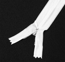 "wholesale 1-1000 zippers 22""/56cm bleach white closed end invisible/ hidden zip"