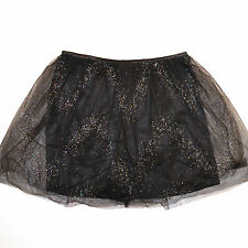 Victoria's Secret Mini Skirt Body by Victoria Tulle Net on Satin Crystals V436