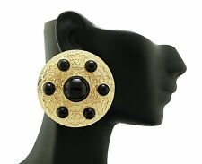 New Celebrity Style Big Round Piece Pierced Post On Fashion Earring  FUE1005