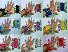 16 style chose Coin Belly Dance Arm Cuffs Wrist Bracelets super LOW PRICE