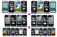 MIX & MATCH CUTE COUPLE HARD PLASTIC MATTE PHONE CASE COVER FOR VARIOUS PHONES