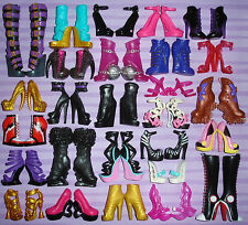 Monster High Girl Doll Shoes Boots Ghoulia Draculaura Cleo Lagoona Cupid (Lot B)