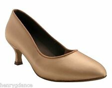 HenryG Women Ballroom Dance Pump, Women Dance Shoes in Flesh Skin Satin HGB-104