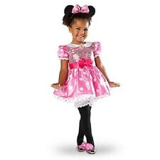 MiNNiE MoUsE~Baby~PINK~Infant~Costume~DRESS+HEADBAND+EARS~NWT~Disney Store