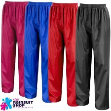 KIDS WATERPROOF RAIN OVER TROUSERS CHILDRENS   BOYS OR GIRLS   3yrs to 12yrs