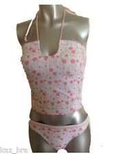 Girls Pink Floral Print Tankini Set Aged Ages  8 10 12 14 or 16 New Swimwear