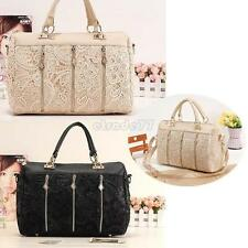 Fashion Lady's Elegent Retro Lace Vogue Handbag Oblique Carry Casual Big Bag EA7
