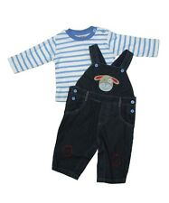 Cute Puppy Face Boys Dungaree Set By Cheeky Chimp