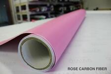 Pink Carbon Fiber Cast Vinyl Decal New Bubble-Free Car Wrap Interior Decal