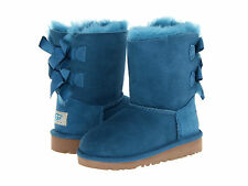 NEW TODDLER UGG AUSTRALIA BOOT BAILEY BOW PFTH PEACOCK FEATHER TURQUOISE 3280T