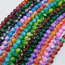 100 pcs 8mm Loose Round Chic Glass Spacer Beads Pick 15Color -1 Or Mixed DIY G02