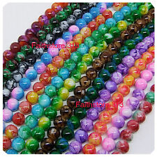 75pcs 12mm Round Chic Glass Loose Spacer Beads Pick 15Colors -1 Or Mixed DIY G07