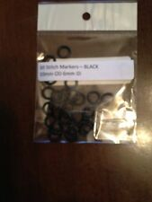 30 5mm OD Black Stitch Markers or Oh Rings or Jump Rings - Rubber