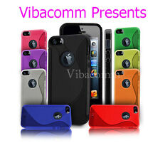 ULTRA GRIP SILICONE GEL CASE COVER FOR IPHONE 4 4S 5 5S & FREE SCREEN PROTECTOR