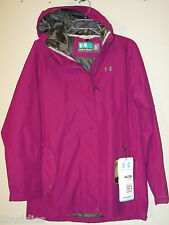 NWT $160 UNDER ARMOUR CG WOMENS SPILLIKINS HOODED SOFTSHELL JACKET LOOSE FIT 696