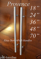 """Door long Pull Pulls Entry T Bar Handle Stainless Steel 18"""" To 70'' Entrance"""