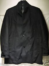 Authentic New Kenneth Cole Men's Melton Car Coat Color Selection Available