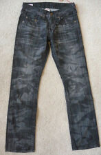 NWT True Religion Mens Bobby Black Laser camo jeans in ASUD