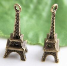 Wholesale 46Pcs/92Pcs Bronze Plated Tower Charms Pendant 24x8mm