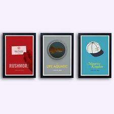 Wes Anderson Collection -  3 posters -Life aquatic Rushmore Moonrise Kingdom