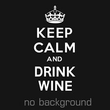 1 x Keep Calm And Drink Wine Sticker Vinyl Decal The Chive Bill Murray Chivette