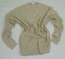 New Ian Poulter Designs Merino Wool Taupe V-Neck Golf Sweater Men's XS, S