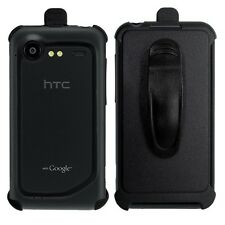 Black Holster Cover Case w/ Rotating Belt Clip for HTC Droid Incredible 2 / 6350