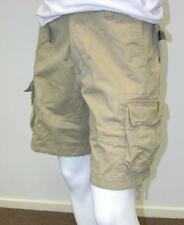 Mens Army Style Cargo Shorts For Camp / Fishing-Khaki -size 30,32,34,36,38,40,42