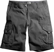 NEW FOX RACING CHARCOAL SLAMBOZO CARGO SHORTS SHORT MENS ADULT LARGE POCKETS