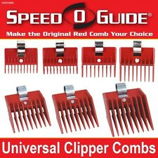 SPEED O GUIDE Universal Clipper Comb Attachments All 7 Size Set-Fits Most Brands