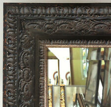 Parisienne Oranate Framed Wall Mirror, Vanity Bathroom Mirror Antique Black
