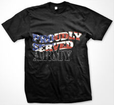 USA Proudly Served United States Army Partiot Armed Forces Military Mens T-Shirt