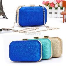 Retro Dinner Hard Glitter Handbag Women's Clutch Chain Shoulder Bag EA77 Nice